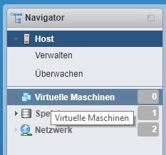 Auswahl virtuelle Maschinen