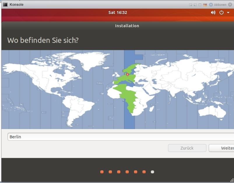 Ubuntu install Länderauswahl